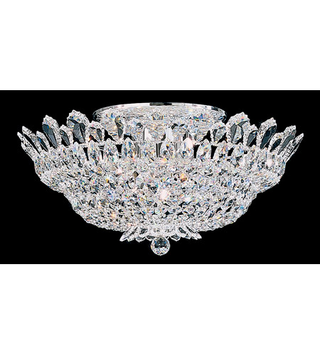 Schonbek Trilliane 10 Light Semi Flush Mount in Silver and Crystal Swarovski Elements Trim 5868S photo