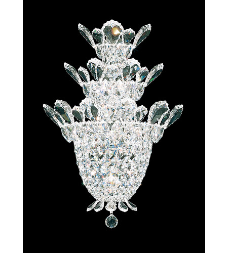 Schonbek 5888S Trilliane 4 Light 7 inch Silver Wall Sconce Wall Light in Clear Swarovski photo