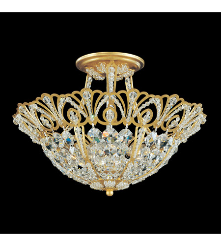 Schonbek 9841-76 Tiara 5 Light 15 inch Heirloom Bronze Semi Flush Mount Ceiling Light photo