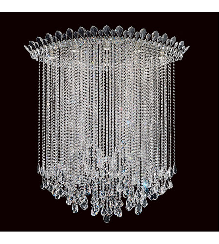 Schonbek TR4803N-401A Trilliane Strands 8 Light 25 inch Stainless Steel Flush Mount Ceiling Light in Clear Spectra photo