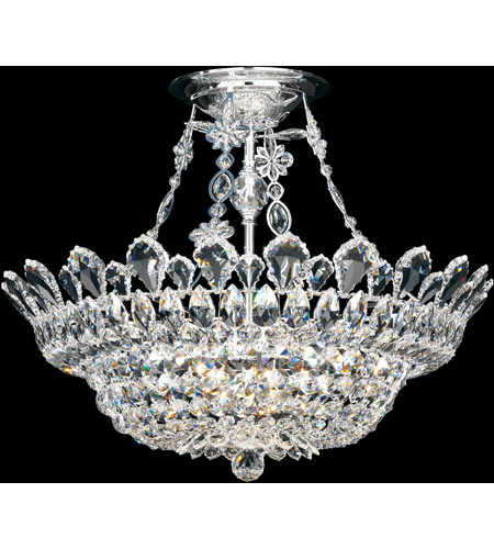 Schonbek 5797A Trilliane 10 Light 24 inch Silver Semi Flush Mount Ceiling Light in Clear Spectra photo