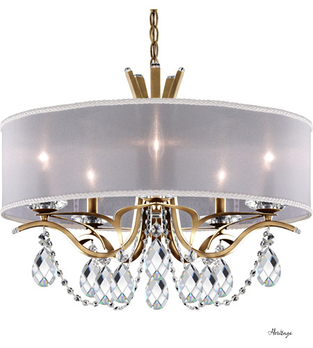 Schonbek Vesca Chandelier: Schonbek VA8305N-22H1 Vesca 5 Light 24 Inch Heirloom Gold