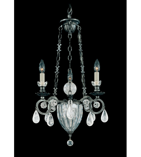Schonbek Vendome 4 Light Chandelier in Antique Pewter and Clear Rock Crystal Trim 5792-47 photo