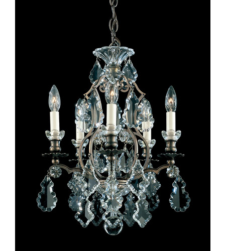 Schonbek 2769-76 Versailles 5 Light 15 inch Heirloom Bronze Chandelier Ceiling Light photo