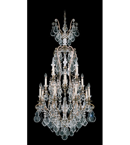 Schonbek Versailles 17 Light Chandelier in Etruscan Gold and Clear Heritage Handcut Trim 2782-23 photo