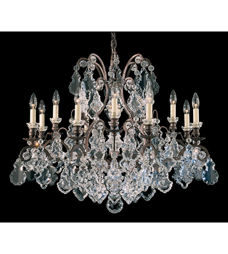 Schonbek Versailles 13 Light Chandelier in Natural Rust and Clear Heritage Handcut Trim 2790-42 photo