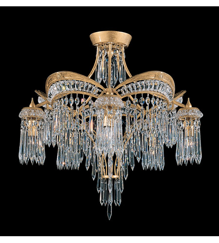 Schonbek Victorian 5 Light Semi Flush Mount in Heirloom Gold and Clear Heritage Handcut Trim 5745-22 photo