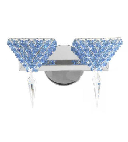 Schonbek Geometrix Vertex 2 Light Wall Sconce in Polished Silver and Strass Crystal VRW1208SS photo