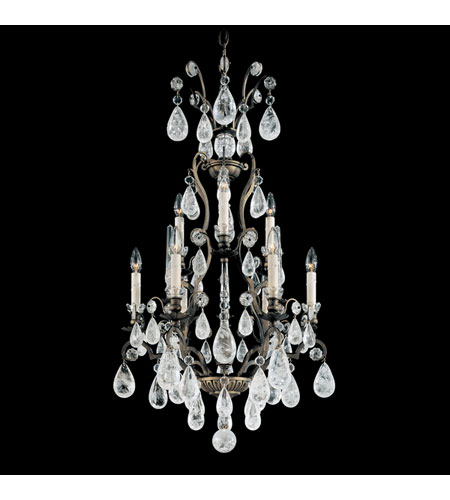 Schonbek 2480-47 Versailles Rock Crystal 9 Light 21 inch Antique Pewter Chandelier Ceiling Light photo