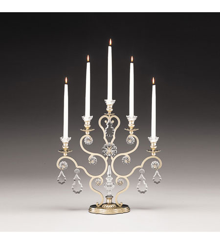 Schonbek Versailles 5 Light Candelabra in Heirloom Gold and Clear Heritage Handcut Trim 71205-22 photo