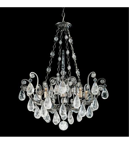 Schonbek 2487 47 Versailles Rock Crystal 8 Light 27 Inch Antique Pewter Chandelier Ceiling