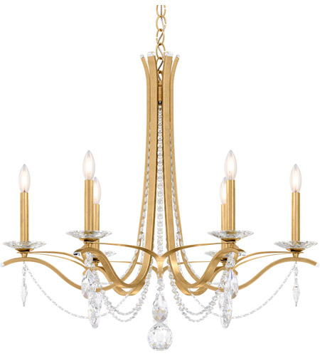 Schonbek Vesca Chandelier: Schonbek VA8336N-22S Vesca 6 Light 33 Inch Heirloom Gold
