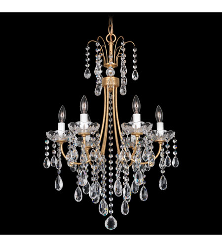 Schonbek Vesuvio 6 Light Chandelier in French Gold and Clear Heritage Handcut Trim VE0001N-26H photo
