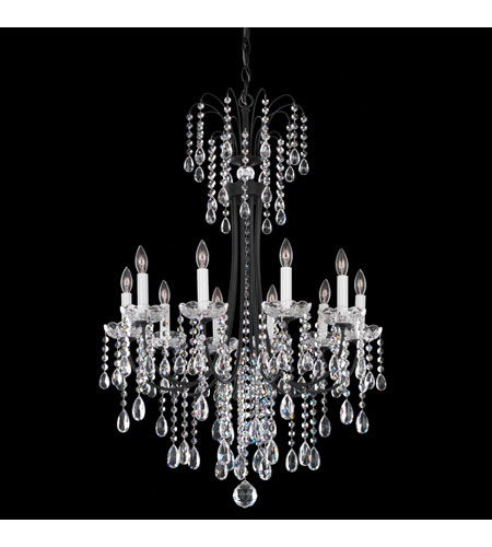 Schonbek Vesuvio 10 Light Chandelier in Ferro Black and Clear Heritage Handcut Trim VE0003N-59H photo