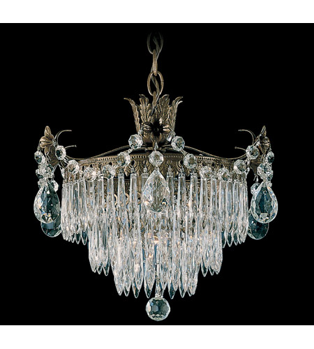 Schonbek Windsor 1 Light Pendant in Etruscan Gold and Clear Legacy Collection Trim 1350-23 photo