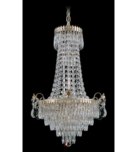 Schonbek Windsor 7 Light Chandelier in Silvergild and Clear Legacy Collection Trim 1354-91 photo