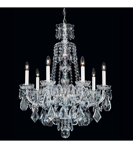 Schonbek 5736CL Hamilton 7 Light 24 inch Silver Chandelier Ceiling Light in Clear Heritage photo