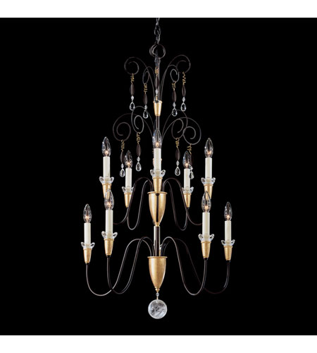 Schonbek Timbrel 10 Light Pendant in Black and Vintage Crystal 6910-51CL photo