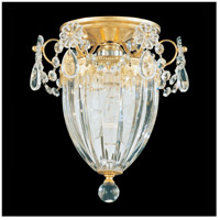 Schonbek Bagatelle 1 Light Semi Flush Mount in Heirloom Gold and Spectra Crystal 1239-22A