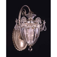 Schonbek Bagatelle 1 Light Wall Sconce in Antique Silver and Swarovski Elements Golden Shadow 1240-48GS