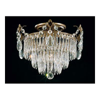 Schonbek Windsor 1 Light Semi Flush Mount in Textured Bronze and Clear Legacy Collection Trim 1351-73 photo thumbnail
