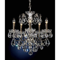 Schonbek Century 5 Light Pendant in Black Pearl and Handcut Crystal 1704-49