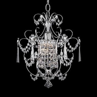 Century 1 Light 13 inch Silver Chandelier Ceiling Light