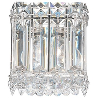 Schonbek 2220S Quantum LED 4 inch Stainless Steel Wall Sconce Wall Light in Clear Swarovski