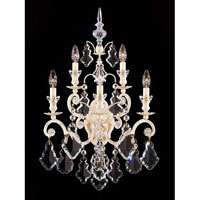 Schonbek Versailles 5 Light Wall Sconce in French Provincial and Handcut Crystal 2763-34