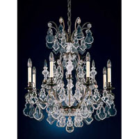 Schonbek Versailles 8 + 1 Light Pendant in French Antique and Handcut Crystal 2771-11
