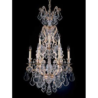 Schonbek Versailles 9 + 1 Light Chandelier in Silvergild and Handcut Crystal 2780-91