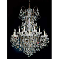 Schonbek New Orleans 14 Light Pendant in Bronze Umber and Handcut Crystal 3658-75H