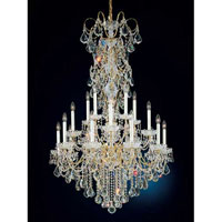 Schonbek New Orleans 20 Light Chandelier in Gold and Clear Heritage Handcut Trim 3661-20H