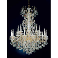 Schonbek New Orleans 24 Light Chandelier in Gold and Clear Heritage Handcut Trim 3662-20H