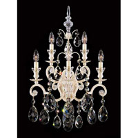 Schonbek Renaissance 5 Light Wall Sconce in French Provincial and Handcut Crystal 3763-34