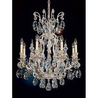 Schonbek Renaissance 9 Light Chandelier in Antique Silver and Clear Heritage Handcut Trim 3771-48