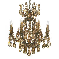 Renaissance 9 Light 27 inch Heirloom Bronze Chandelier Ceiling Light in Clear Heritage