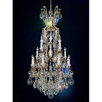 Schonbek Renaissance 17 Light Chandelier in Etruscan Gold and Clear Heritage Handcut Trim 3782-23