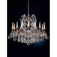 Schonbek Renaissance 13 Light Chandelier in Black and Silver Shade Swarovski Elements Colors Trim 3790-51SH