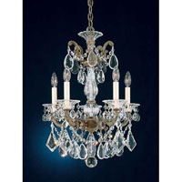 Schonbek La Scala 5 Light Pendant in Ancient Bronze and Handcut Crystal 5005-65