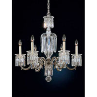 Schonbek Dorchester 6 Light Pendant in Antique Pewter and Handcut Crystal 5020-47