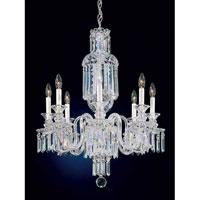 Schonbek 5032 Fairfax 8 Light 24 inch Silver Chandelier Ceiling Light