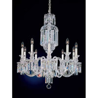 Schonbek 5033 Fairfax 10 Light 28 inch Silver Chandelier Ceiling Light