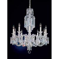 Schonbek 5033 Fairfax 10 Light 28 inch Silver Chandelier Ceiling Light