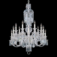 Fairfax 14 Light 110V Chandelier in Silver with Clear Heritage Crystal