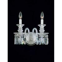 Schonbek 5036 Fairfax 2 Light 13 inch Silver Wall Sconce Wall Light