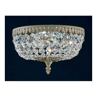 Schonbek Rialto 4 Light Ceiling Fixture in Ancient Bronze and Swarovski Crystal 5040-65A