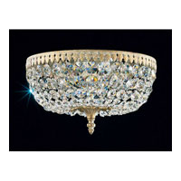 Schonbek Rialto 5 Light Ceiling Fixture in Parchment Gold and Swarovski Crystal 5042-27A