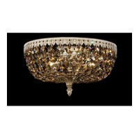 Schonbek Rialto 5 Light Ceiling Fixture in Parchment Bronze and Strass Tk Crystal 5042-74TK