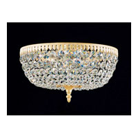 Schonbek Rialto 6 Light Ceiling Fixture in Parchment Gold and Swarovski Crystal 5044-27A